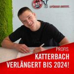Noah Katterbach has renewed his contract with the 1. FC Köln until 2024