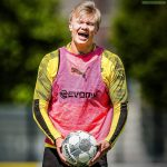 Erling Haaland very much enjoyed being back in training today