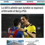"[Juanma Rodriguez] ""UEFA admits that Aytekin failed in refereeing Barca-PSG (2017 UCL Ro16)"""