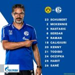 Schalkes lineup for the Derby today