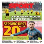 [SPORT] Barcelona are interested in signing Ajax's Sergiño Dest, who is available for €20 million.