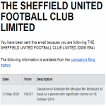 According to Companies House, Sheffield United's owner, a Saudi Prince, has ceased 'significant control' of the club