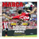 Aduriz' last flight -- Marca's cover is a tribute to Aduriz' retirement.