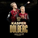 Kasper Dolberg is voted as OGC Nice Player of the Season