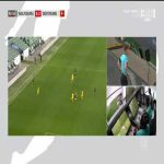 Felix Klaus (Wolfsburg) red card vs. Borussia Dortmund (82')