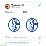 Fc Augsburg making fun of Schalke after they won 0:3 against Schalke in an away game