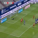 Schalke 0-1 Augsburg - Eduard Lowen free-kick 6'