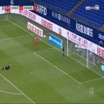 Schalke 0-3 Augsburg - Sergio Cordova 90'+1'