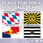 Flags For The Current Top 4 Bundesliga Teams [OC]