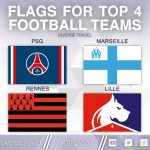 Flags For The Current Top 4 Ligue 1 Teams [OC]