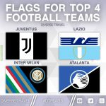 Flags For The Current Top 4 Serie A Teams [OC]