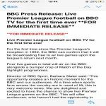 Premier League to allow live matches (4) on free-to-air TV for the first time since it was formed as a top clubs' breakaway league in 1992. Rights sold to £Sky and other payTV ever since. It only took 28 years, and a pandemic.