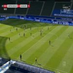 Hertha Berlin 2-0 Augsburg - Krzysztof Piąek 90+3'