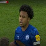 "Weston McKennie with a ""Justice for George"" armband"