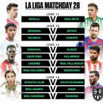 La Liga Match day 28 schedule