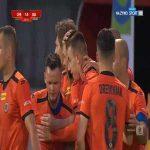Chrobry Głogów 1-0 GKS Bełchatów - Adrian Benedyczak 43' (Polish I liga)