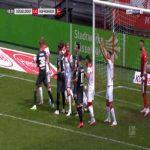 Benjamin Hubner (Hoffenheim) straight red card against Dusseldorf 8'