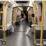 FC Copenhagen player Mo Daramy takes the metro to the game versus Randers FC yesterday in the Danish Superliga