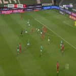 Bremen 0-1 Bayern - Robert Lewandowski 43'
