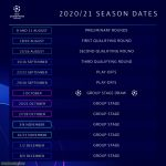 Official 2020/21 UCL Season Dates