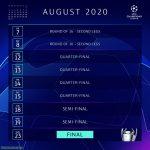 Official UCL August calendar