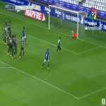 Real Oviedo 2-0 Deportivo - Yoel Barcenas free-kick 45'+1'
