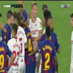 Sevilla-Barcelona scuffle 45+3'