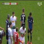 Uwe Hünemeier (Paderborn) second yellow card vs. Borussia Mönchengladbach (65')