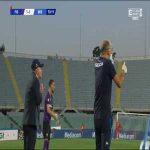 Martín Cáceres (Fiorentina) second yellow card vs. Brescia (70')
