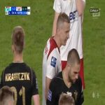 Maciej Dąbrowski (ŁKS Łódź) second yellow card vs. Górnik Zabrze (90+3', Polish Ekstraklasa)