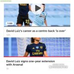 Two stories in my Premier League news feed today