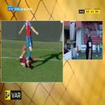Jan Kopic (Viktoria Plzeň) red card vs. Sparta Praha (85')