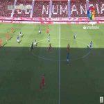Numancia 1-0 Real Oviedo - Higinio 24'