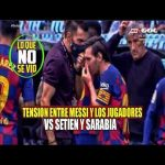 Messi giving coaching staff cold shoulder when they try to speak with him also Rakitic and Arthur giving attitude to coaching staff. Video shows how bad situation is at Barca.