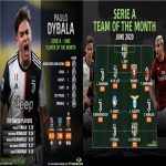 Dybala leads Serie A player standings as Juventus dominate June best XI