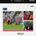 Sofiane Feghouli (Galatasaray) straight red card vs Trabzonspor 31'