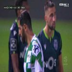 Rafik Halliche (Moreirense) straight red card against Sporting 51'