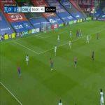 S. Dann (Crystal Palace) chance hits post vs. Chelsea 90+5'