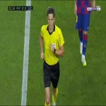 Lozano (Espanyol) red card vs Barcelona 53'