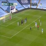 Manchester City 4-0 Newcastle: David Silva free kick goal 65'