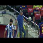 Quique Setién first touch (Barcelona - Espanyol)