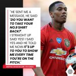 Martial on Solskjaer