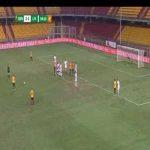 Benevento [3]-1 Livorno - Oliver Kragl free-kick 90'+5'