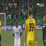 Matvey Safonov (Krasnodar) straight red card against Dynamo Moscow 17'