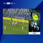 Sassuolo [1]-1 Milan: F. Caputo penalty goal 42'