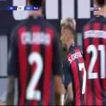 Milan [3] - 0 Cagliari - Castillejo 57'