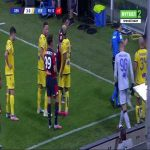 Sofyan Amrabat (Verona) and Francesco Cassata (Genoa) straight red cards 90'+1'