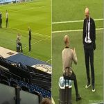 Zidane and Guardiola after the game
