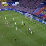 Barcelona 2-0 Napoli: Lionel Messi goal 23' [3-1 agg.]