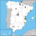 Map of La Liga 20/21 teams